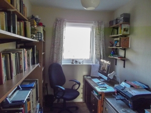 This is where I do my work, overlooking the Forest of Dean in Gloucestershire.