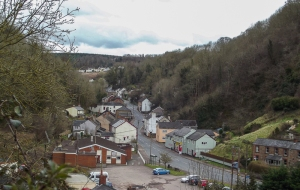 Central Lydbrook, where I terminate my shorter runs.