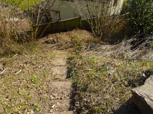 The garden slope after today's efforts.
