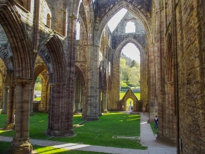 Tintern Abbey; an ancient ruin on the Welsh border, near Chepstow.