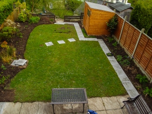 The new footpath for the garden.