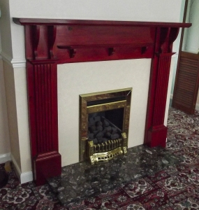 The fire surround and the dreaded gas fire!