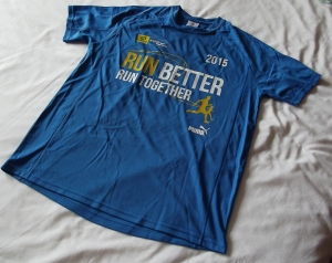 Race sponsor's shirt.