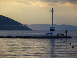 Sundown on Thassos - A self-indulgent reminder of a happy 2 weeks in the sun!