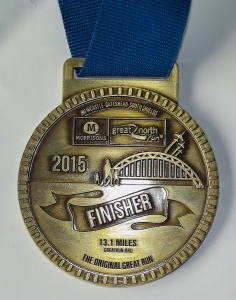 The finisher's medal.