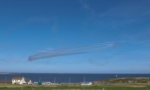 One of Valerie's pictures of the Red Arrows display.