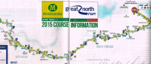 The map of the run, provided by the sponsors. It's a bit big to copy the whole thing!
