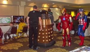A Real Dalek with some of the Cosplayers