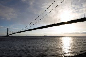 The Humber Bridge, leading to Hull.