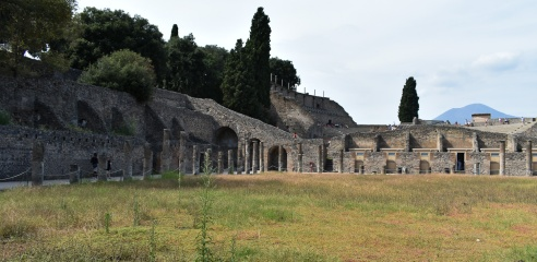 first sight of Pompeii