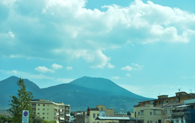 first view of Vesuvius, from coach window