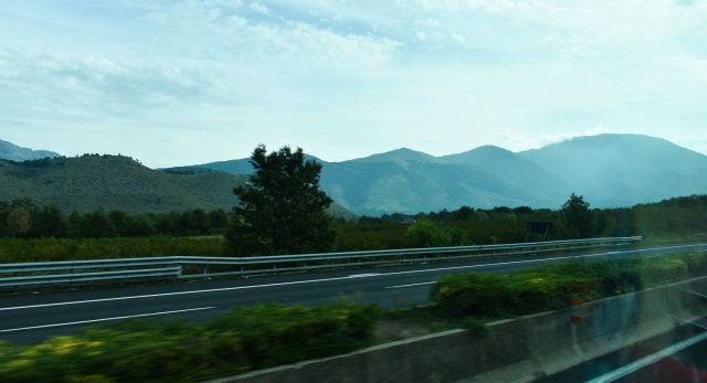 Landscape from coach